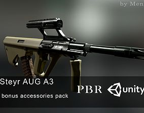 3D asset AUG A3 Austrian assault rifle for FPS