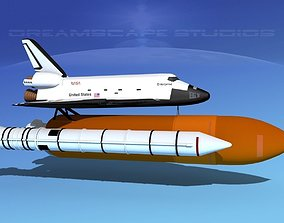 3D model Space Shuttle Enterprise Launch MP 2-1