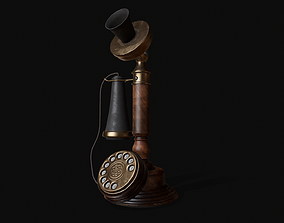 Old Candlestick Phone 3D model