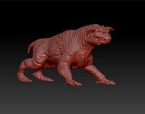 3D printable model dog terror figure sculpture
