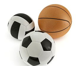 3D Ball Soccer Basketball Volleyball