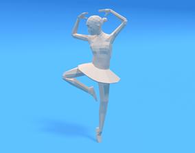 3D model Low Poly Ballerina Girl