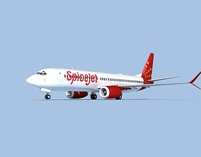 Boeing 737-800 Max SpiceJet 3D