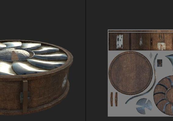 Hopper game 3D assets