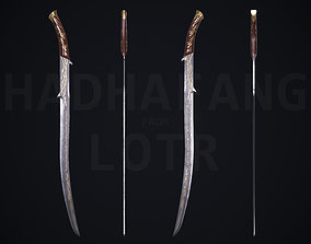 3D asset Hadhafang Sword from The Lord of The Rings Movie