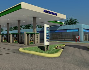 service 3D model Gas Station