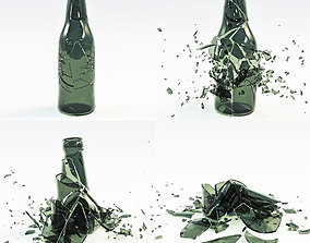 3D model animated Bottle Crash Animation