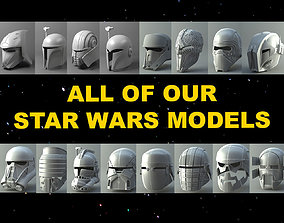 All of our Star Wars 3D printable helmets