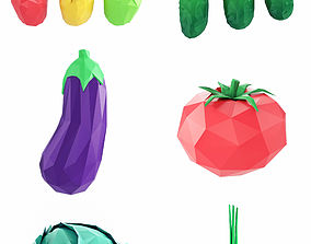 3D model Vegetables Low Poly