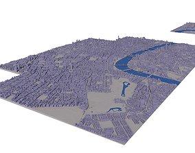 Large London city model 25 square kilometres