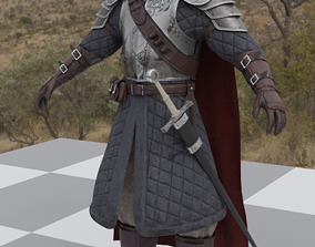 3D model Fantasy warrior character