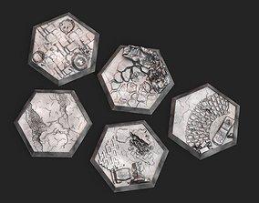 Hex Bases Urban Warfare 3D print model