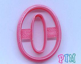3D printable model Vintage letter O cookie cutter