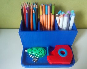 3D printable model Pen holder Box for Makeup