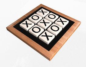 3D asset Classic Tic Tac Toe Game