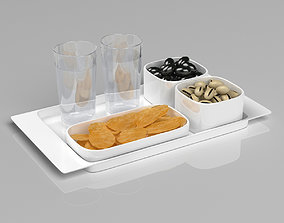 3D Alessi Programma 8 Tray Set with Snacks