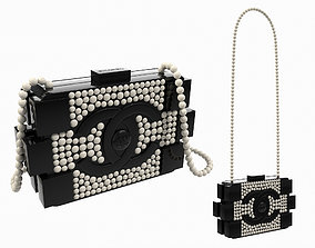 Chanel Pearl Lego Brick Clutch Black 3D model
