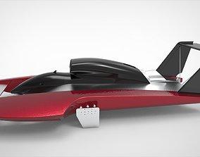 Hydroplane Boat 3D asset
