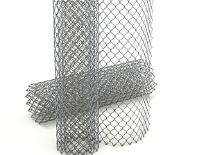 3D model Adaptable Chain Link Fence