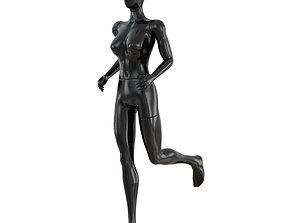 3D model Female running mannequin 91