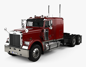 3D Freightliner FLD 120 Classic Sleeper CF Top Tractor 1