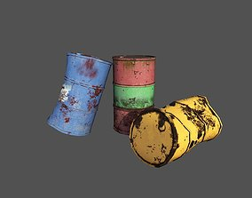 Old barrels 3D asset