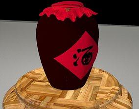 Chinese wine jar 3D model