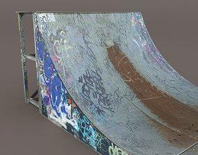 Skate Pipe Low Poly 3d Model VR / AR ready