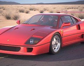 3D Ferrari F40 1987