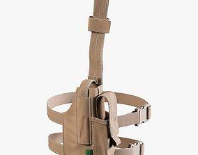Warrior Drop Leg Holster Cayote Tan 3D asset