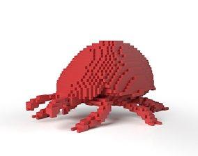 3D model Ladybird Minecraft Voxel