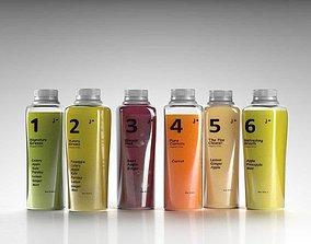 Juice Bottles 3D