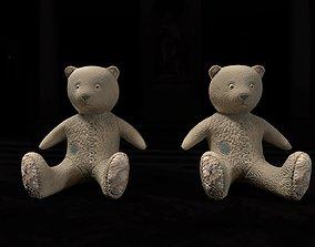Old used Teddy bear 2 LODs 3D model