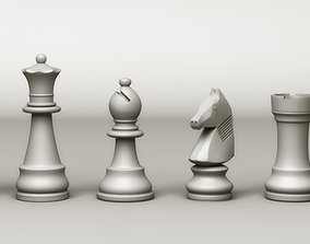 Chess Game Characters 3D model
