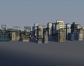 lowpoly buildings for distant cities 3D