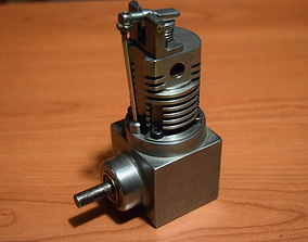 One cylinder air engine 3D