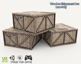 Wooden Shippment Box 3D model