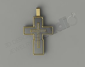 3D printable model Cross with stones and five seperate