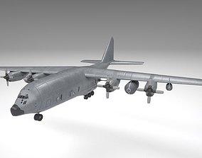 Military AC 130 Plane 3D asset