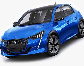 3D model Peugeot e-208 2020