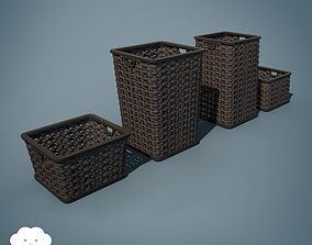 3D PBR Laundry Baskets 16 varieties