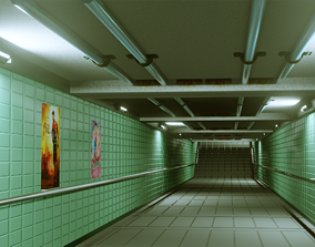 Subway Under pass - Low poly - Game ready model game-ready