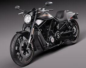3D Harley-Davidson V-rod Night Rod Special 2013
