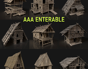 Next Gen AAA Medieval Fantasy Village Viking 3D model 2