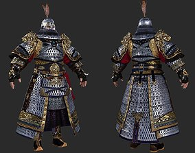 Armor of heavy cavalry in ancient China Iron 3D model 1
