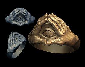 3D print model Eye in hands