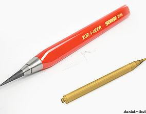 HD Graphite Pencil 3D model