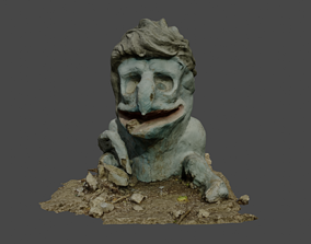 3D asset Karkush Monster Statue