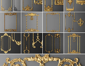 Collection stucco molding frame 1 3D