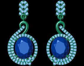 3D print model TJO 8 Diamond Earring